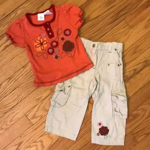 Other - Girl's Koala Kid's 2 Piece Cargo Pants Outfit